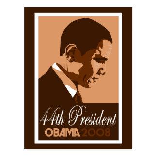 Obama Brown 44th President Postcard 3