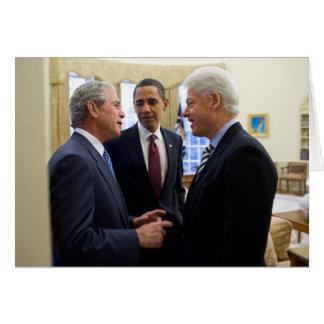 Obama Bush and Clinton Card