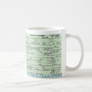 Obama Campaign Birth Certificate Mug