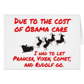 Obama Care Affects Santa Card