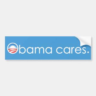 Obama cares, period. Bumper Sticker