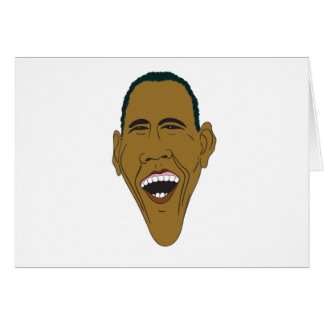 Obama Caricature Card