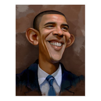 Obama Caricature Postcard