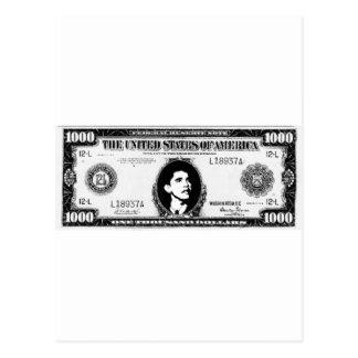 Obama Cash Postcard