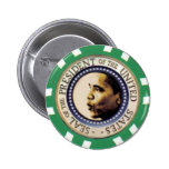 Obama Casino Chip Button