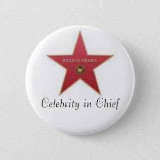 Obama Celebrity in Chief 2 Inch Round Button