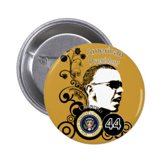 Obama Change BackGround Color 2 Inch Round Button
