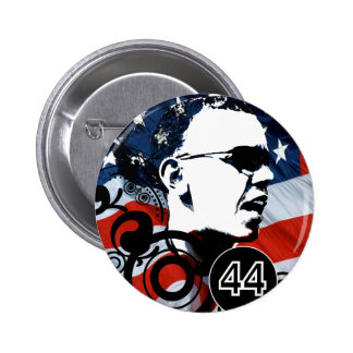 Obama Change BackGround Color Pinback Button