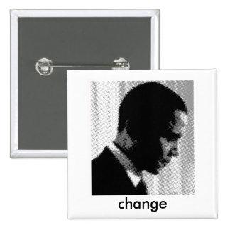 obama, change 2 inch square button
