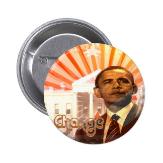Obama Change Pinback Buttons