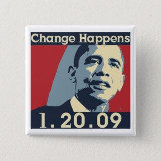 Obama Change Happens Button