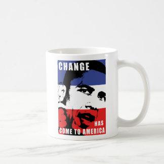 Obama - Change Has Come to America Basic White Mug