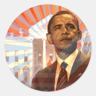 Obama Change Round Sticker