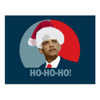 Obama Christmas Ho Ho Ho Postcard