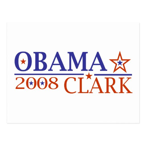Obama Clark 08 Post Card