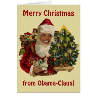 Obama Claus, Funny Barack Obama Santa Claus Card