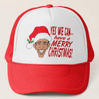 Obama Claus Trucker Hat