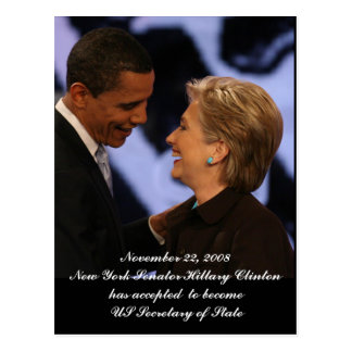 Obama - Clinton Inauguration Keepsakes Postcard
