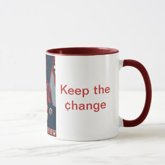 Obama Clock Mug - Maroon