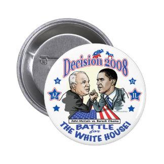 Obama contre McCain 2008 Macaron Rond 5 Cm