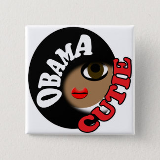 Obama Cutie T-Shirts and Gifts! 2 Inch Square Button