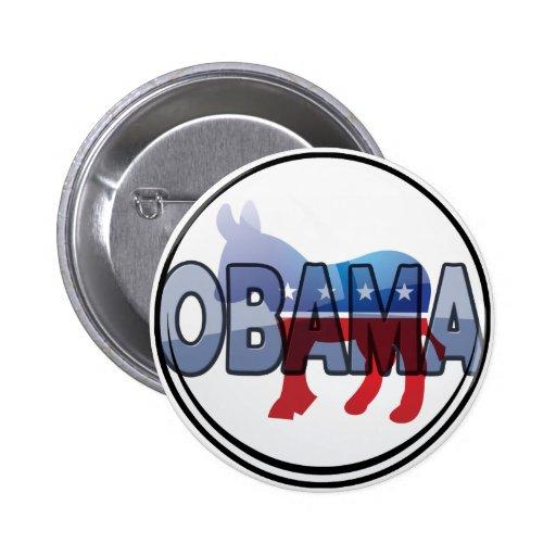 Obama Democrat Design Pinback Button