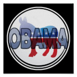 Obama Democrat Design Print