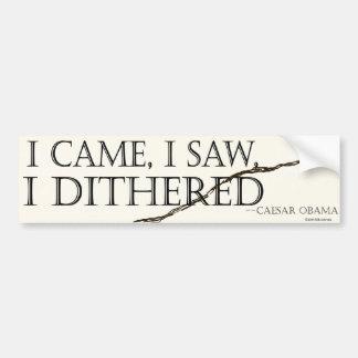 Obama dithered bumper sticker car bumper sticker