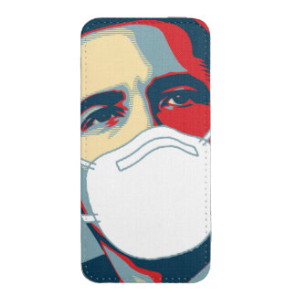 OBAMA EBOLA MASK iPhone POUCH