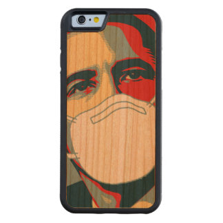 OBAMA EBOLA MASK CARVED® CHERRY iPhone 6 BUMPER CASE