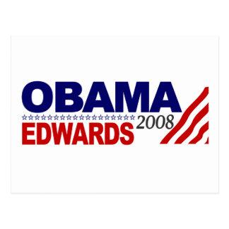 Obama Edwards 2008 Postcard
