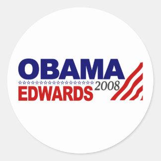 Obama Edwards 2008 Round Sticker