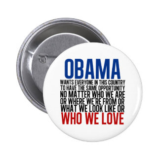 Obama & Equality 2 Inch Round Button