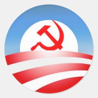 Obama est un communiste sticker rond