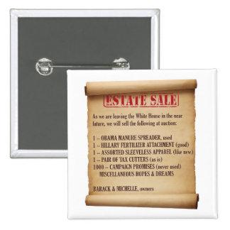 Obama Estate Sale 2 Inch Square Button