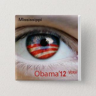 Obama Eye 2 Inch Square Button