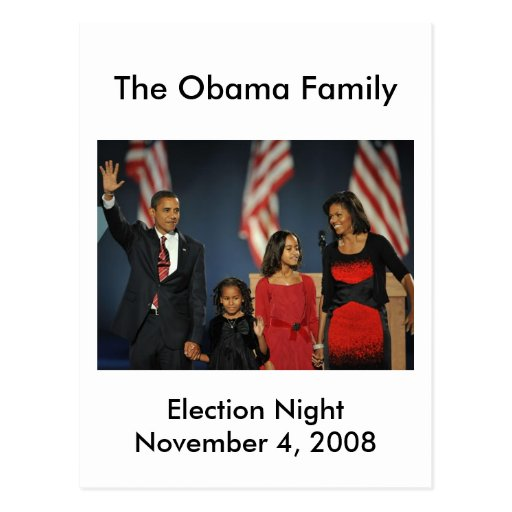 Obama Family Election Night Postcards