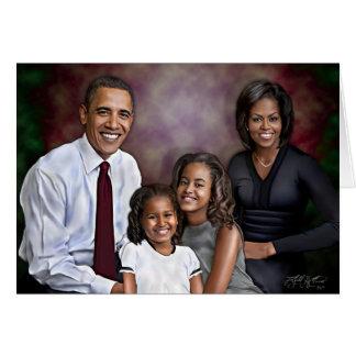 Obama Family Portrait Card