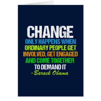 Obama Farewell Speech Quote on Change Card