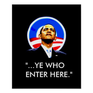Obama fascist dante poster