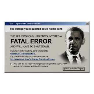 Obama - Fatal Error: Protest Poster