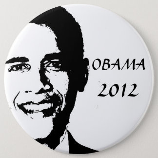 Obama for 2012 6 inch round button