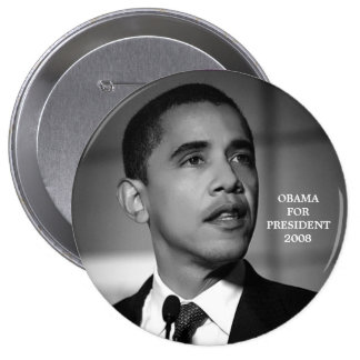 OBAMA FOR PRESIDENT 2008 BUTTON