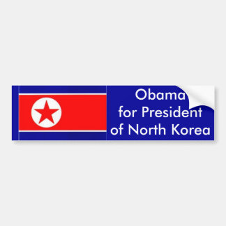 Obama for President of  North Korea Bumper Sticker