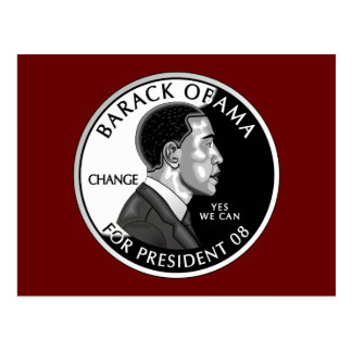 Obama For President (Red) Postcard
