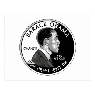 Obama For President (White) Postcard