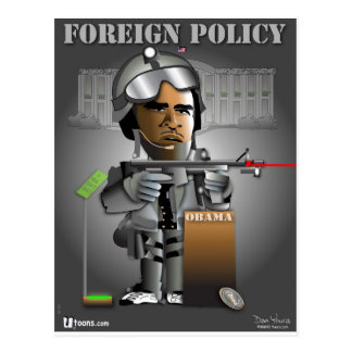 Obama Foreign Policy Postcard