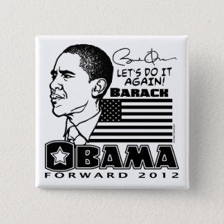 Obama Forward 2012 2 Inch Square Button