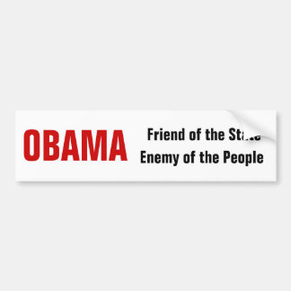 OBAMA Friend or Enemy? Bumper Sticker