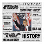 Obama: From Dream to History Headline Poster